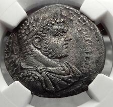 CARACALLA 215AD Emesa Seleukis Pieria Tetradrachm Eagle Roman Coin NGC i58171