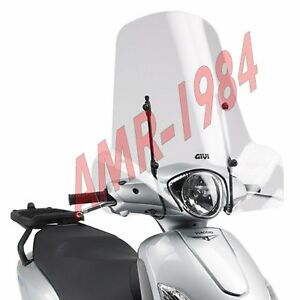 Windscreen Complete Piaggio Fly 50-100-125-150 From 2004 A 2017 Givi 107A +A110A