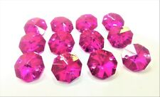 50 Metallic Fuchsia Hot Pink Octagon Chandelier Crystal Beads Octagons