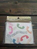 Vintage 60s-70s Happy Birthday Invitations The Drawing Board Inc Phone Theme New