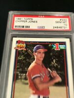 1991 Topps CHIPPER JONES #333 PSA 10 Atlanta Braves RC Rookie ~SC3-731