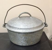 Vintage Hammered Wagner Ware Sidney Drip Drop 2248 Round Roaster Dutch Oven Lid