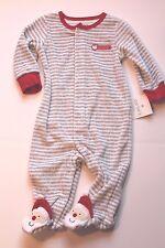 Carter's Christmas Santa Claus Sleeper Pajamas Infant Baby Boy 3 Months NEW