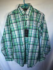 JACK NICKLAUS Men's S Long Seeve Shirt Green Plaids NWT Golf Size Small