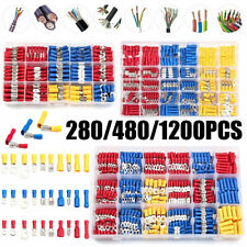 1200pcs Assorted Insulated Electrical Wire Terminals Crimp Connectors Spade Kit