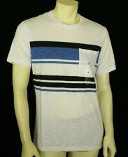 INC Men's Stripe Pocket T-Shirt White Size M