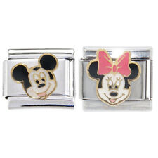 Mickey and Minnie Mouse Italian Charms - fits 9mm classic Italian charm bracelet