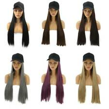 Women Ladies Baseball Cap With Long Curly Wave Synthetic Hair Wigs Party 9L