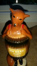 jim beam 1981 fox in barrel pottery paper weight Las Vegas
