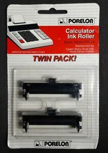 Porelon  PR-74 Calculator Ink Roller Twin Pack Black Replacement