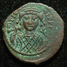 Byzantine Empire, Maurice Tiberius AE half follis, large XX, Antioch c.582-591AD