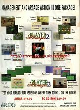 "Player Manager 2  ""ANCO"" 1995 Magazine Advert #5775"