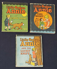 1934 - LITTLE ORPHAN ANNIE by HAROLD GRAY - WHITMAN PUBLISHER - MINI COMICS (3)
