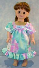 18 Inch Doll Clothes - Mint Green and Pink Floral Muu Muu handmade by Jane Ellen