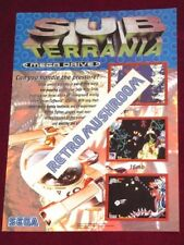 SUB-Terrania A4 Póster/anuncio! 1994 SEGA Promo, FES! Mega Drive/Genesis!