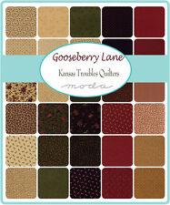"MINI CHARM PACK~GOOSEBERRY LANE~KANSAS TROUBLES~MODA FABRIC~42-2.5""SQUARES~9540"