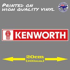KENWORTH Trucks logo decal TRUCK UTE TOOLBOX CAR WINDOW STICKER 200mm Turbo Bomb
