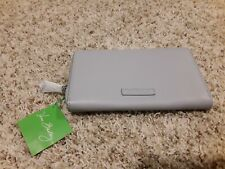 Vera Bradley Accordion Wallet Dove Gray, Faux Leather, New with Tags