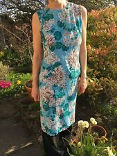 Vintage French Connection dress floral crepe sleeveless sundress fitted Medium