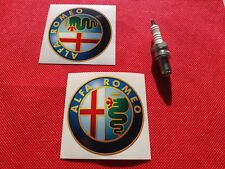 "Pair of  3"" Alfa Romeo stickers"