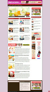 WEIGHT LOSS SYSTEMS AFFILIATE WEBSITE  + NEW FREE DOMAIN & HOSTING