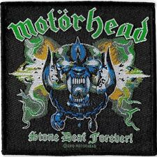 Official Merch Woven Sew-on PATCH Heavy Metal Rock MOTORHEAD Stone Deaf Forever