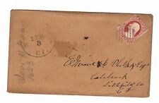 US Stamp Cover #10A - Stamford CT to Litchfield CT
