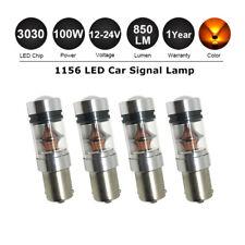 4X 12/24V BA15S 1156 P21W 100W LED TURN SIGNAL INDICATOR CANBUS BULB GLOBE AMBER
