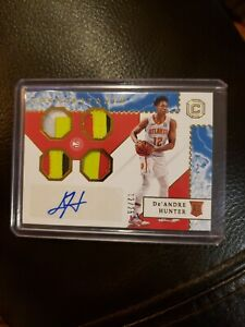 De'Andre Hunter 2019-20 PANINI CHRONICLES CORNERSTONES QUAD PATCH AUTO /25 RPA💎
