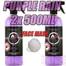 Purple Rain 2x500ml Autobrite Direct, Alloy Wheel Cleaner Fallout Remover +MASK!