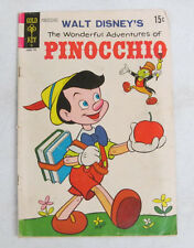 Walt Disney The Wonderful Adventures Of Pinocchio (1954) By Gold Key Comics Good