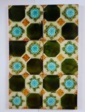 A panel of six unusual Victorian tiles
