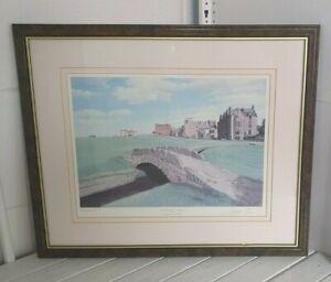 Graeme W Baxter 'Old Course at St. Andrews' signed print 54 x 45 cm frame I4B206