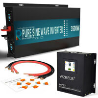 WZRELB 24V Pure Sine Wave Power Inverter 3500W MPPT Solar Charge Controller 40A