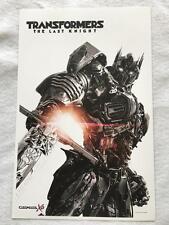 "TRANSFORMERS: THE LAST KNIGHT 11""x17"" Original Promo Movie Poster MINT Cinemark"