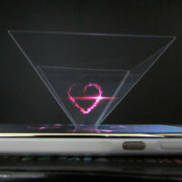 3D Holographic Display Pyramid Stand Projector for 3.5''~6.5'' Smart Phone*v*