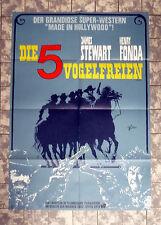 JAMES STEWART * DIE 5 VOGELFREIEN - A1-FILMPOSTER #B Ger 1-Sheet ´68 FIRECREEK