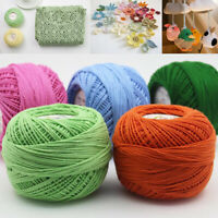 50g Lace Cotton Wool Yarn 3 Ply Hand Knitting Crochet Line Thread DIY Embroidery