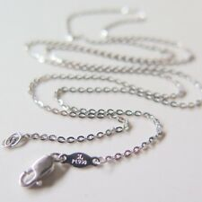 New Solid Platinum 950 Necklace 1.2mmW Man Woman's Lucky O Link Chain 21.6 inche
