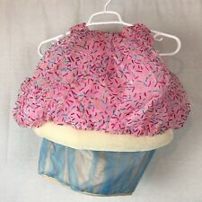 Cupcake halloween costume size 3T sprinkles toddlers boutique pink sparkle -Hg