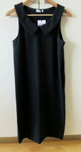 NEW Stylish Black Shift with Collar Dress from Moschino - Size 10-12