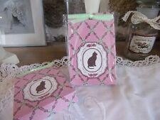 sachet parfumé à la rose décoration chat et fleur parfum d'ambiance Clayre & eef