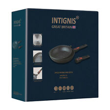 INTIGNIS® Stone Frying Pan Durable Non-Stick induction Suitable 24cm, 28cm set