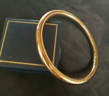 Classic 64mm 18k Yellow Gold Filled Golf Slave Bangle 43 grams