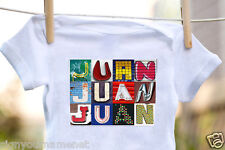 JUAN Baby Bodysuit in Sign Letter Photos - 100% Cotton & Short Sleeve