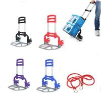 Portable Luggage Cart Heavy Duty Folding Roller Carts Carrier Foldable Platform