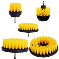 Yellow 3Pcs Drill Brush Tile Grout Power Scrubber Cleaner Spin Tub Shower Wall
