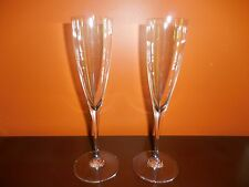 BACCARAT DOM PERIGNON CHAMPAGNE FLUTES 9.25 INCHES SIGNED EXCELLENT CONDITION