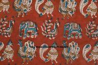 Hand Sanganeri Running Block Print Pure Cotton Fabric 5 Yard Indian Kalamkari