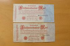 * 2 x 500 000 Mark 1923 Reichsbanknoten *(ORD2)